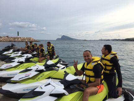 Licencia navegación sin límite de potencia en motos de agua